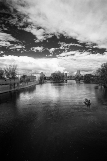 North View from Wealthy Street Bridge, Grand Rapids, 2012