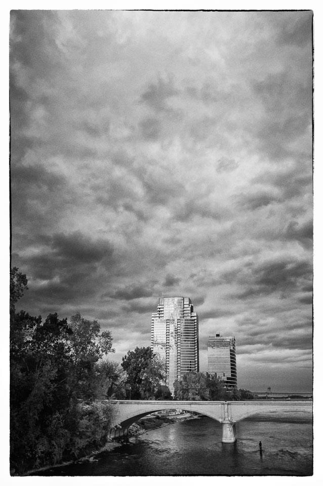 View from Pearl Street Bridge, Grand Rapids, 2012